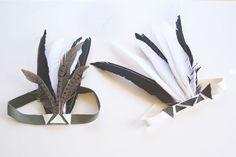 modern pow wow birthday headdresses by fringeofthecro
