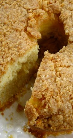 Lemon Ripple Crunch Cake Recipe ~ a moist, tasty cake with a nice lemony flavor