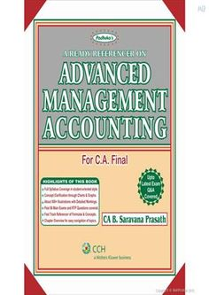 Books for CA Final http://www.meripustak.com/Padhukas-A-Ready-Referencer-on-Advanced-Management-Accounting/Academic--CPT-IPCC-FINAL-/Books/pid-102383