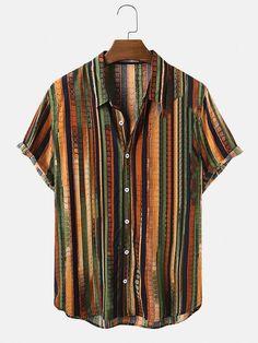 Casual Shirts, Casual Outfits, Men Casual, Casual Winter, Vintage Shirts, Vintage Men, Camisa Floral, Beach Shirts, Henley Shirts