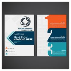 Business folder template Free Vector
