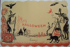 54 Vintage Halloween Wallpapers Wallpapers available. Share Vintage Halloween Wallpapers with your friends. Submit more Vintage Halloween Wallpapers Retro Halloween, Vintage Halloween Images, Halloween Prints, Halloween Pictures, Vintage Holiday, Holidays Halloween, Happy Halloween, Haunted Halloween, Halloween Witches