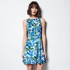MILLY for DesigNation Floral A-Line Dress - Women's