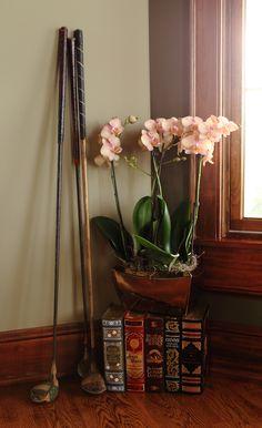 Salmon Double Orchid Planter
