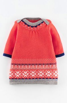 Mini Boden 'Fair Isle' Knit Dress (Baby Girls)