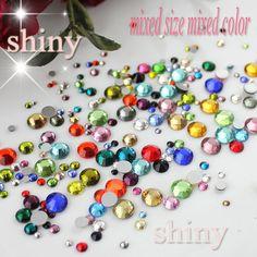 Mix Colors Mix Sizes 10g/bag 3D Nail Rhinestone Facets Flatback Glass Crystals Non Hotfix Rhinestones For clothing Decoration -  http://mixre.com/mix-colors-mix-sizes-10gbag-3d-nail-rhinestone-facets-flatback-glass-crystals-non-hotfix-rhinestones-for-clothing-decoration/  #Rhinestones