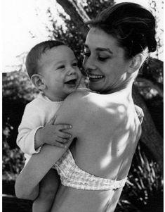 audreyhepburnenchantment:Audrey Hepburn with her son Sean Hepburn Ferrer in Beverly Hills, 1961.