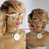 (Julia)Curly Human hair blend lace front bob – Shopstudio139 Blonde Bob Wig, Blonde Bobs, Lace Front Wigs, Lace Wigs, Body Wave Wig, Inspirational Celebrities, Remy Hair, Hair Loss, Curly