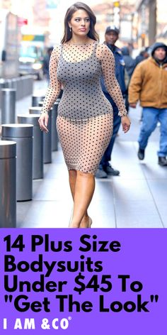 We've scoured the Internet for 14 of the most on-trend, flattering plus-size bodysuits out there, all in a vast range of sizes Ashley Graham Outfits, Ashley Graham Style, Curvy Women Fashion, Plus Size Fashion, Bodysuit Outfit Jeans, Plus Size Blog, Belle Nana, Curvy Girl Lingerie, Curvy Girl Outfits