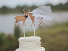 These deer wedding cake toppers are perfect for a rustic wedding. #countrywedding http://www.gactv.com/gac/photos/article/0,3524,GAC_42725_6075192_01,00.html?soc=pinterest