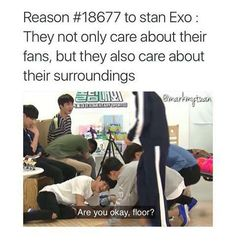 When EXO cared more about a floor than each other^.^