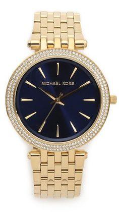 blue face Michael Kors watch