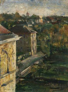 Luxury View from the studio Schwabing Lovis Corinth German Oil on