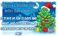funny xmas Christmas Jokes, Christmas Tree, Funny Xmas Quotes, Favorite Quotes, Best Quotes, Haha, Lights, Cute, Fun Sayings