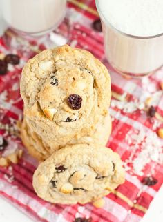 Cranberries, toasted coconut, white chocolate chips, and macadamia nuts make these gluten free cookies a delight!