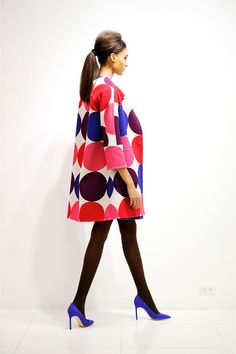 Lisa Perry Fall 2013 ::: #fashion #polka #dots #pink #fun #coat