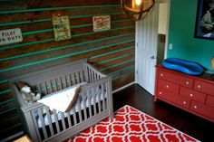 Vintage Airplane Nursery with Wood Accent Wall - Project Nursery