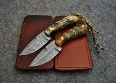 Back-pocket fixed blades made by Backwoods Custom Knives in Ohio.