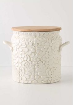 pottery Anthropologie Verdant bread bin  $158.00  Bread bin?  COOKIE JAR!