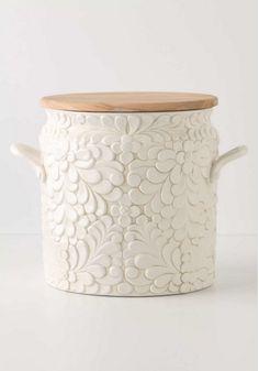 pottery Anthropologie Verdant bread bin  $158.00