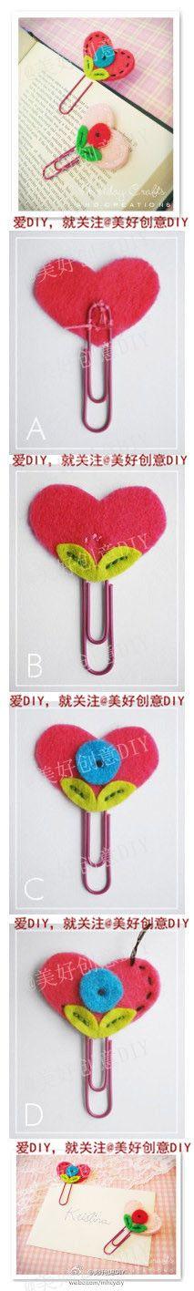 Non-woven pin bookmarks