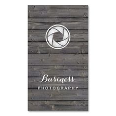 Photographer Camera Shutter Wood Photography Double-Sided Standard Business Cards (Pack Of 100)