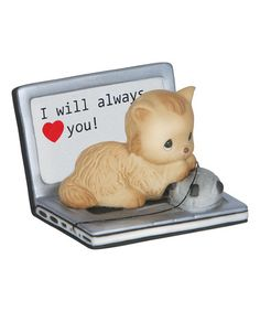 This Cat on Laptop Figurine is perfect! #zulilyfinds