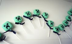 minecraft creeper cake pops