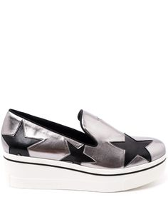 Stella McCartney Silver-Tone Binx Star Loafers Loafer Shoes, Loafers, Stella Mccartney, Liberty, Vans, Slip On, London, Luxury, Sneakers