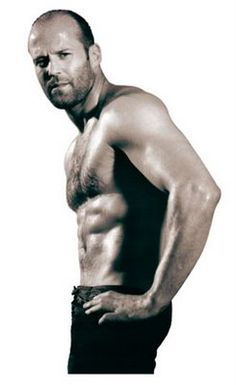 Jason Statham. Mature. Slightly balding. Accent. And that body is begging to be worshiped. I could do that.