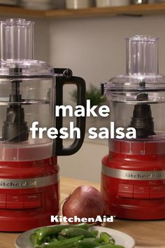 Kitchenaid Food Processor, Food Processor Recipes, Chicken Dishes For Dinner, Dinner Dishes, Mexican Dishes, Mexican Food Recipes, Cooking Gadgets, Cooking Recipes, Red Kitchen Aid