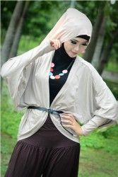 Sakeena Batwing Cardi - Batwing Cardie allsize, fit to XL.  Warna: Ungu, Krem, dan Hitam.