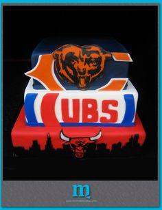chicago teams grooms cake | Chicago Custom Cakes | Michelle M Cakes - except Blackhawks instead of bulls