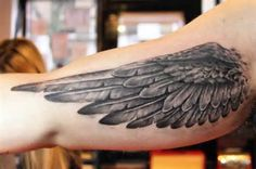 wing tattoo on the upper arm - Yahoo Image Search Results. December 2016