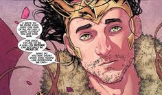 It's THORsday! This week we're taking a look at The Mighty Thor. Loki just met Thor to talk. Before we get in-depth with their clash, I want to note that the Loki featured in this comic looks like Tom Hiddleston. I guess it's a marketing move to make heroes and villains look like the actors that portray them. However gratifying this might be for many, I prefer Loki to look at the Agent of Asgard version. #THORsday #Thor #Loki #Marvel #TomHiddleston