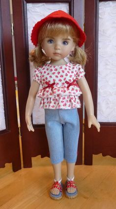 """Ruffles and Capri's Outfit for 13"""" Effner Little Darling Doll by Apple"""