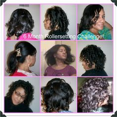 6 Month Rollersetting Challenge!!!  I need to start try this....