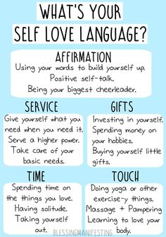 5 Self Love Languages - Affirmations, Service, Gifts, Time, Touch - Blessing Manifesting Relation D Aide, 5 Love Languages, Positive Self Talk, Stress, Self Care Activities, Mental Health Activities, Self Care Routine, Questions, Self Love Quotes