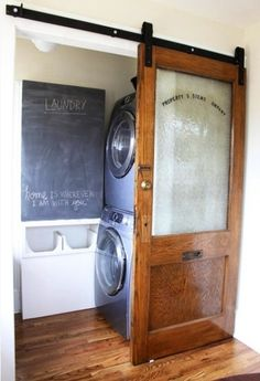 Very cool DIY project!< - - - Great use of a small space. The house I'm looking at has a 4x5 room for the laundry/utility. This could work.