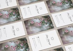 Business card design for a photographer - Kinga Kasperczyk