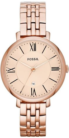 Fossil  Watch , Jacqueline Three-Hand Stainless Steel Watch Rose ES3435  Fossil Damen 75a7225078