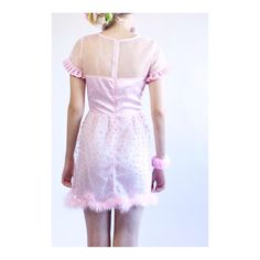 """"""" Such A Doll Dress with faux fur trim   Dress by @Melonhopper ✨  {Also available in yellow} """""""