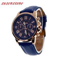 11 Цвета 2 015 Мода Часы Женщины Мужчины римскими цифрами кварцевые часы искусственная кожа кварцевые часы Аналоговые Повседневный Relogio наручные часы #shoes, #jewelry, #women, #men, #hats, #watches, #belts
