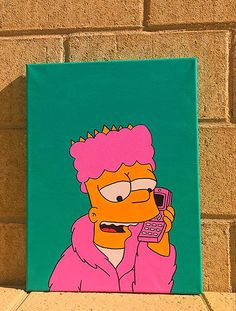 hippie painting ideas 716142778232854725 - Bart Simpson Painting Source by fridasnsimages Simple Canvas Paintings, Easy Canvas Art, Small Canvas Art, Easy Canvas Painting, Mini Canvas Art, Cute Paintings, Canvas Ideas, Disney Canvas Paintings, Disney Canvas Art