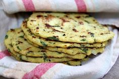 Recipe for Cauliflower Tortillas with lime and cilantro. Recipe comes from The Slim Palate Paleo Cookbook. Photographs included.