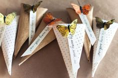 DIY butterfly rice tossers from SheKnows.com #homegoodswedding - Repin to win!