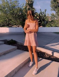 Light pink dress white sneakers Source by to impress school Cute Casual Outfits, Cute Summer Outfits, Spring Outfits, Summer Dresses, Mode Outfits, Fashion Outfits, Fashion Clothes, Fashion Ideas, Mens Fashion