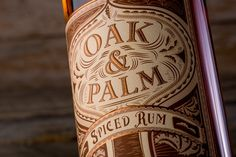 Oak & Palm Rum on Behance