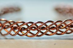 Braided wire bangle!(Copper)
