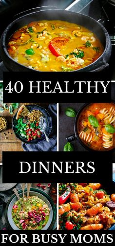Looking for quick, easy, and make ahead healthy crockpot recipes for dinner Quick Vegetarian Meals, Healthy Crockpot Recipes, Healthy Dinner Recipes, Meal Recipes, Crockpot Meals, Healthy Dinners, Freezer Meals, Cooker Recipes, Delicious Recipes
